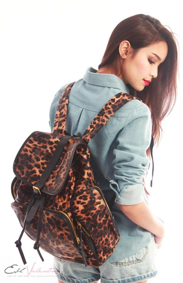 Jordyn Leopard Backpack