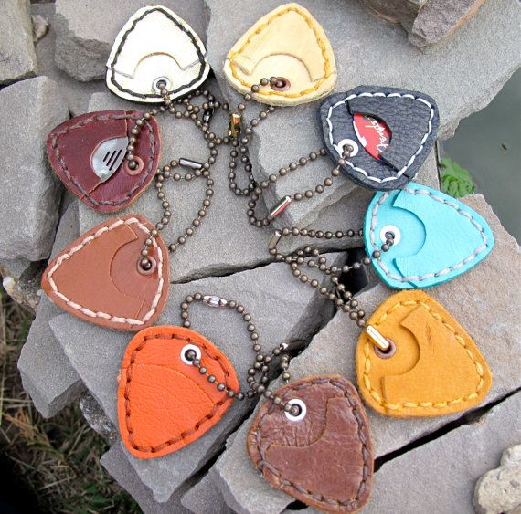 Hey, I found this really awesome Etsy listing at https://www.etsy.com/listing/191812258/guitar-pic-pick-leather-holdercasesleeve