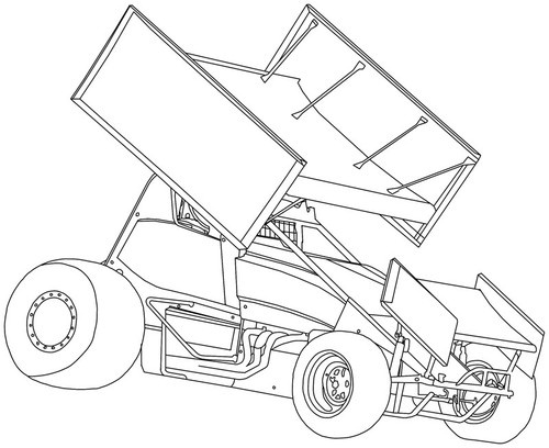 dirt sprint car coloring pages - photo#13