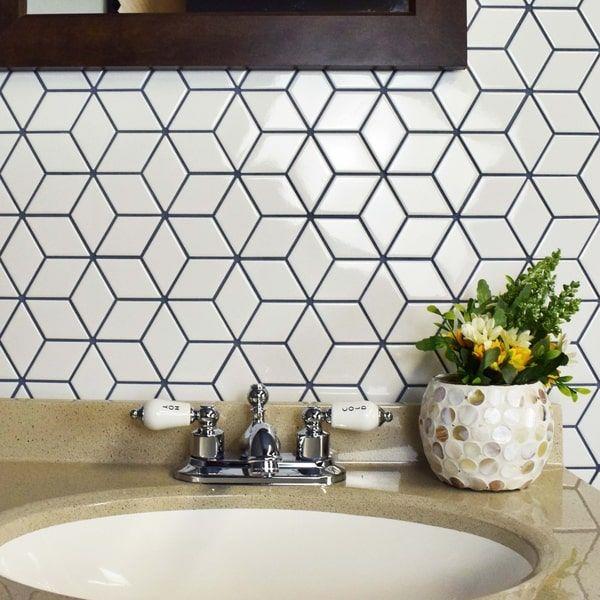 25 best white tile floors ideas on pinterest black and for Bathroom ideas 5x12