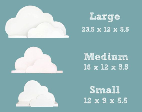Cloud Shelf Collection  Small Medium and Large door ShopLittles, $112.00