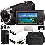 Sony HDR-CX405 HD Handycam Camcorder 8PC Accessory Bundle – Includes 2X Replacement Batteries + AC/DC Rapid Home & Travel Charger + 64GB MicroSD Memory Card + MORE  by ZooomElectronics  Buy new: CDN$ 299.95  (Visit the Bestsellers in Camcorders list for authoritative information on this product's current rank.)