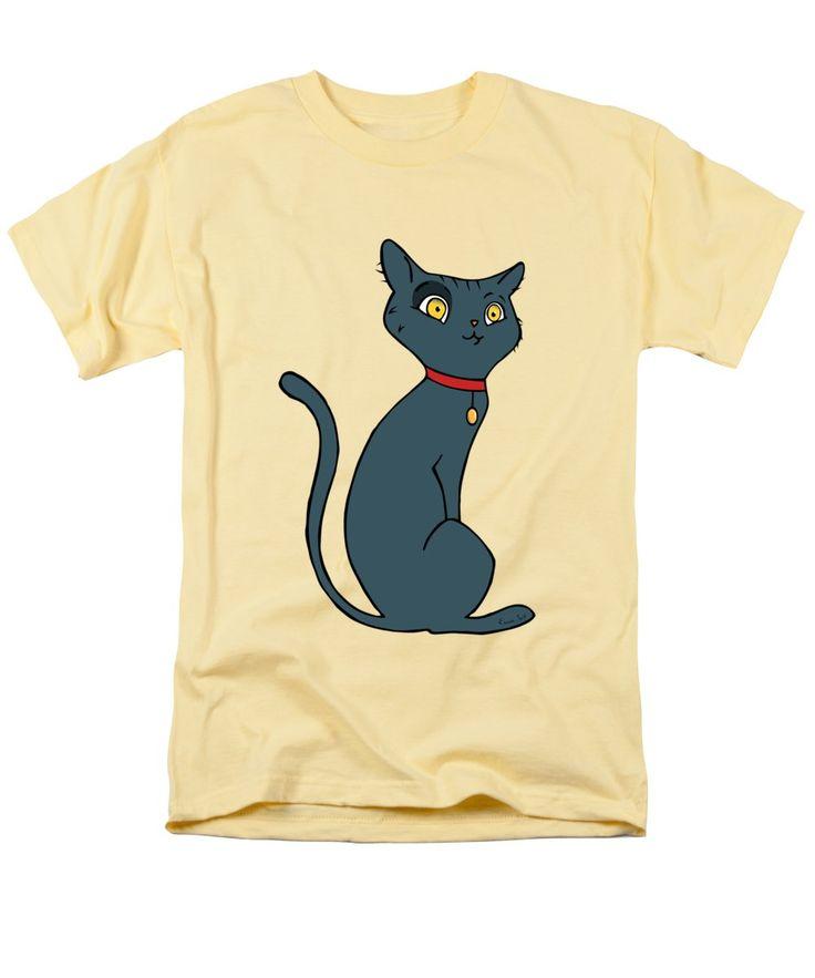 Cat T-Shirt featuring the digital art Blue Cat by Erjan Sert