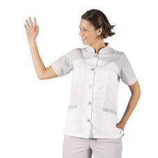 Bata de señora manga corta ELSA Gris - Garys 6089