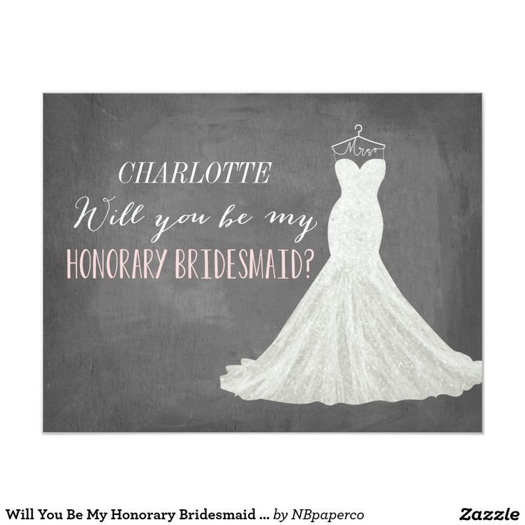 Will You Be My Honorary Bridesmaid | Bridesmaid Card