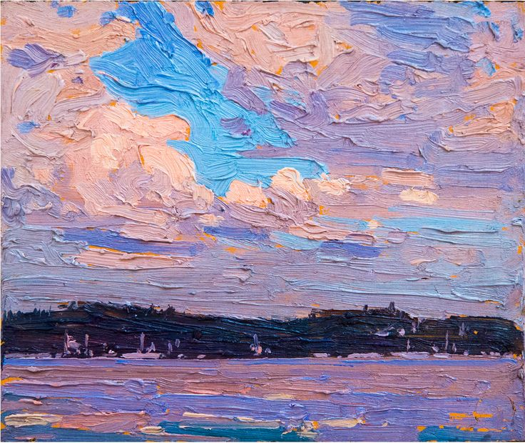 Tom Thomson - Canoe Lake, Algonquin Park Love the texture in this piece
