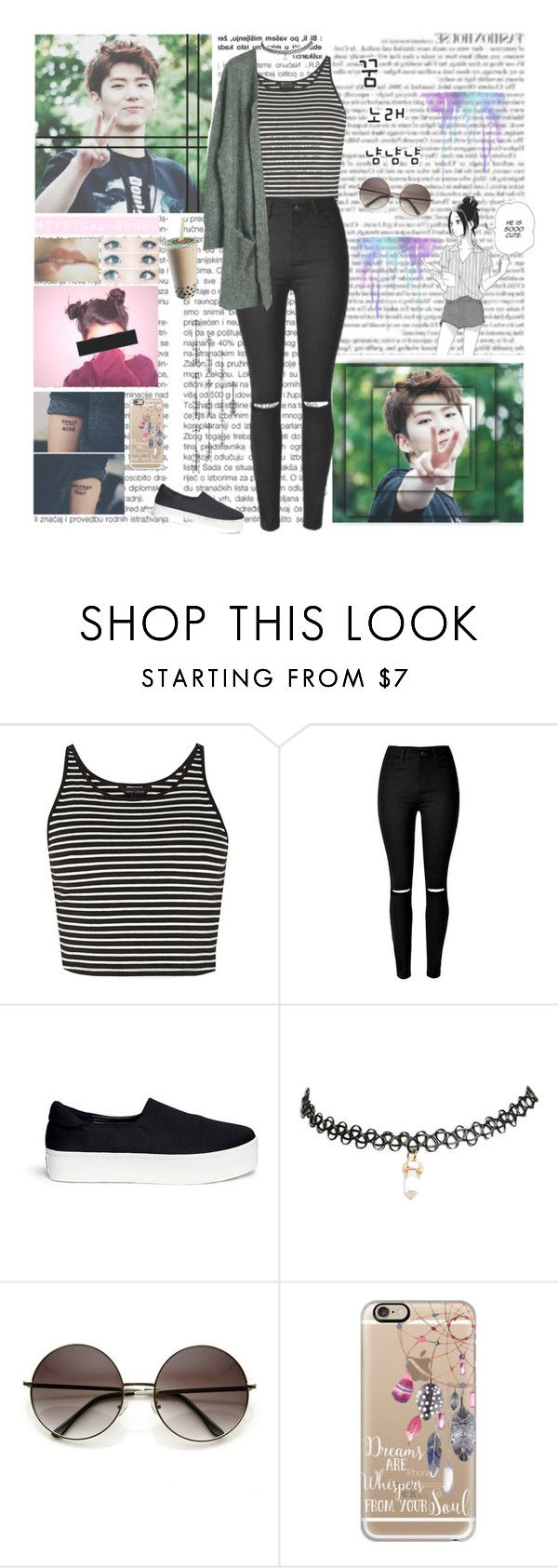 """""""Kihyun - Monsta X"""" by typical-ghoul ❤ liked on Polyvore featuring Opening Ceremony, Wet Seal, Casetify and Julie Fagerholt Heartmade"""