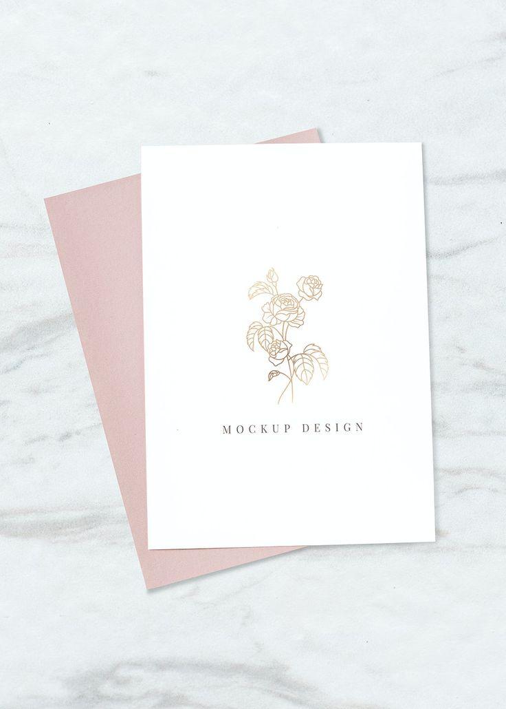 Design Trends Premium Psd Vector Downloads: Download Premium Psd Of Rose Invitation Card Mockup Vector 935191 In 2020