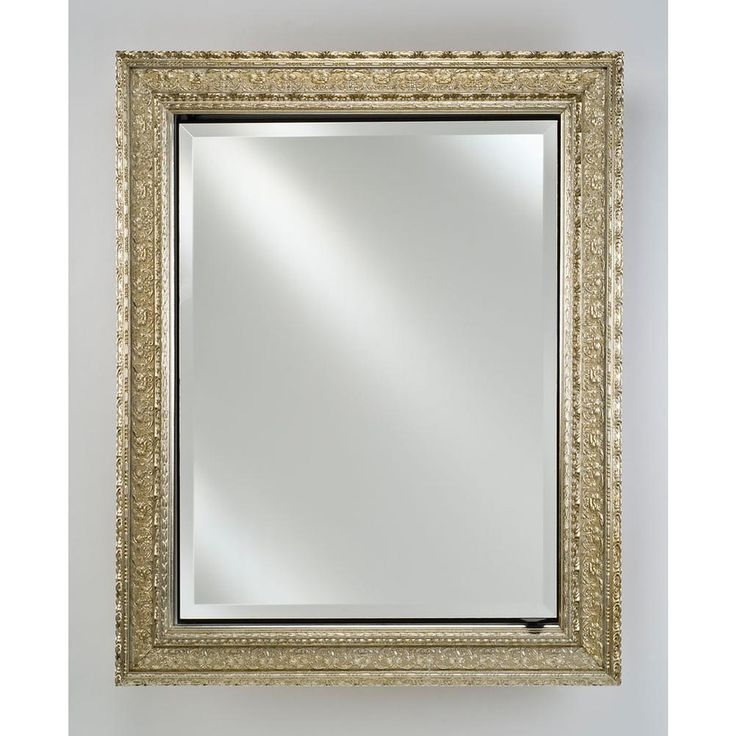 22 X 36 Mirror Part - 38: Signature Single Door Medicine Cabinet Size: X Finish: Meridian Silver With  Silver Caps