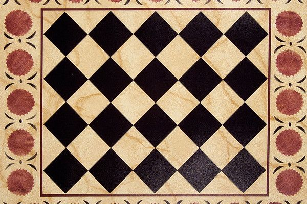 painted floorcloth....Michele Hollick - Floorcloths :: american-artists.com