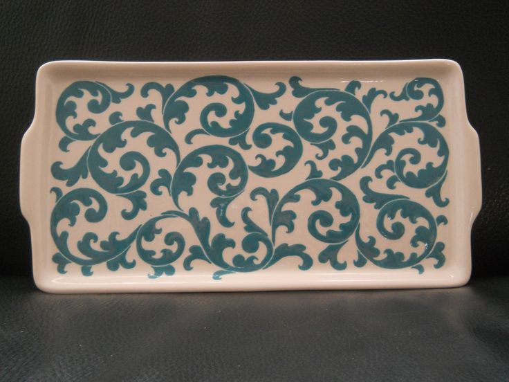 Cerâmica - Travessa floral