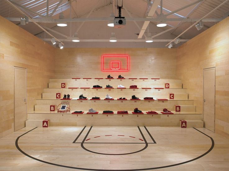 "Concept store for the launch of the ""Lebron 9"" shoe in 1948 