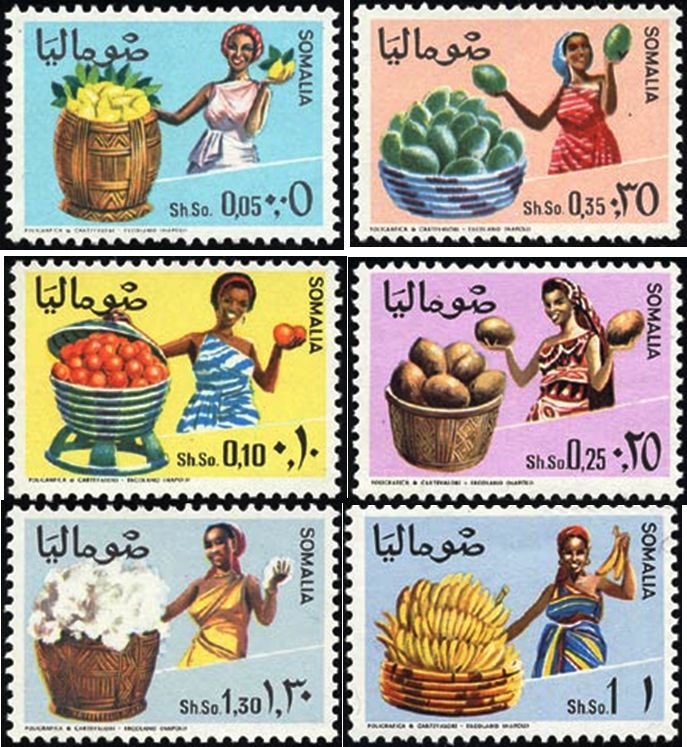 Vintage Somalia | vintage stamps celebrating Somalia's fruit exports...