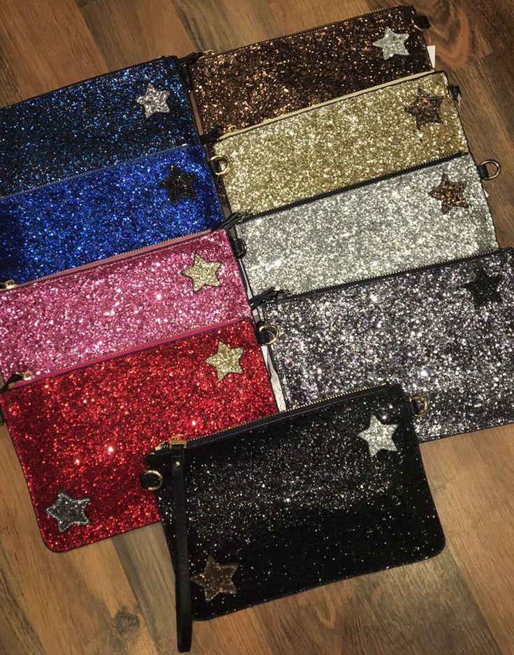 Glitter Star Clutch Bags £12