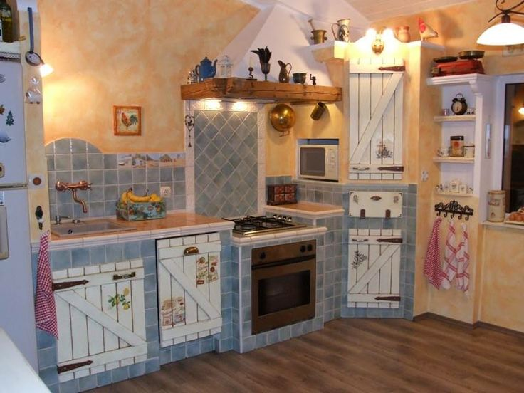 Built kitchen,