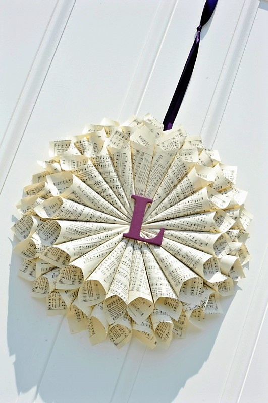 paper cone wreath instructions