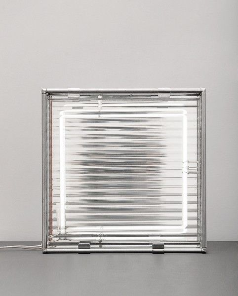 Nanda Vigo; Chromed Metal and Glass Table Lamp, 1965.