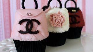 Purse Cupcakes!! Make CHANEL Handbag Cupcakes! -- A Cupcake Addiction How To Decorating Tutorial, via YouTube.