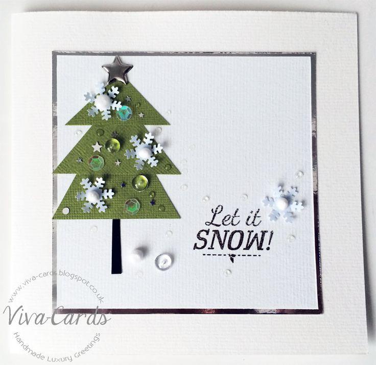 Handmade Card - Let It Snow  #Papertrey, #Mirri, #Christmas Tree
