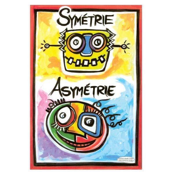 Affiche symétrie et asymétrie