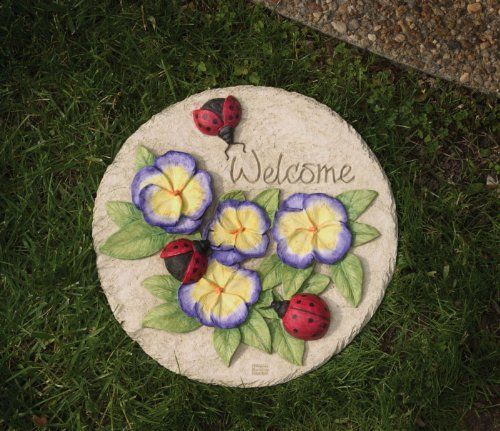 Painted Garden Stones: 17 Best Images About Hand Painted Stepping Stone On