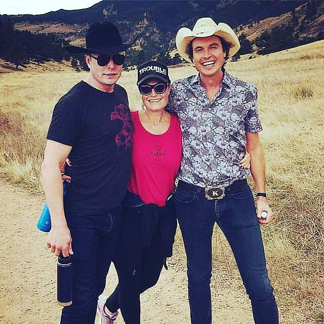 Elon Musk with his sister Tosca Musk and his brother Kimbal Musk