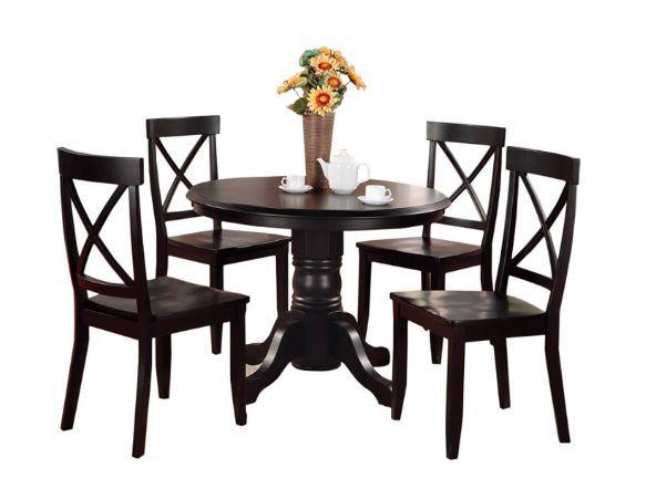Black Wood Dining Room Set Cool Design Inspiration