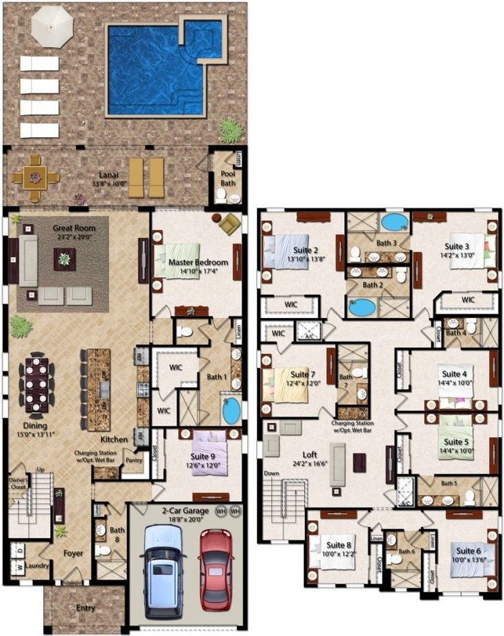 Best 9 Bedroom Homes With 5 049 Square Feet The Two Story 9 400 x 300
