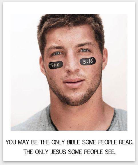 Thankful for Tim Tebow's testimony.