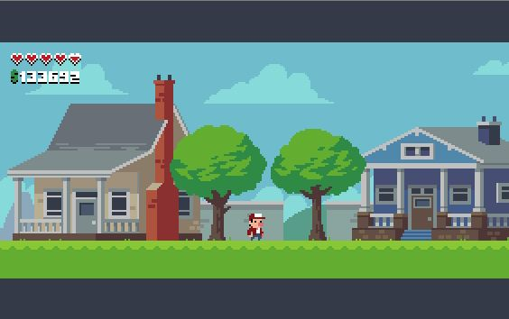 """Workin' on makin' this old mockup a real game, lotta assets that have been just waiting for love #pixelart #indie"""