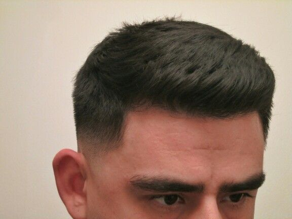 Classic Crew Cut With Fade Hairstyle For Men Using Layrite