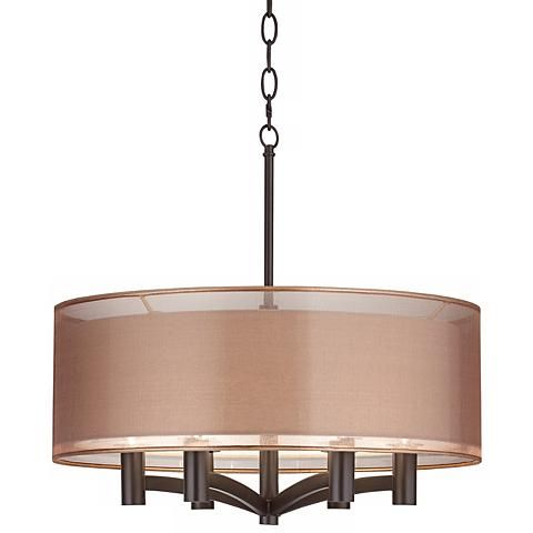 "Possini Euro Caliari 6-Light 22"" Wide Bronze Pendant Light - #5X999 