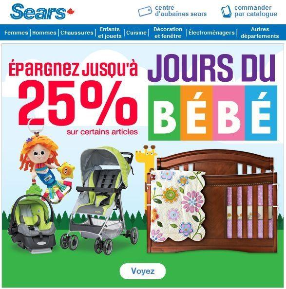 Épargnez jusqu'à 25 % sur certains articles - Les Jours du bébé sont arrivés!