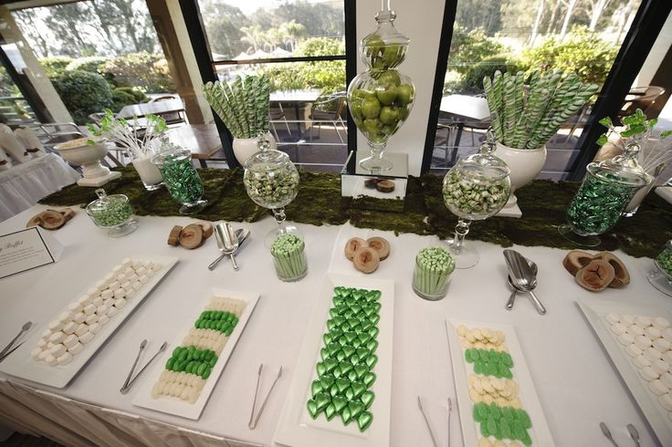 Green & White Lolly Buffet