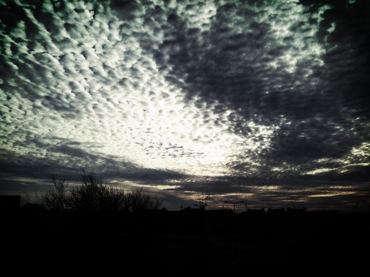 The sky above Elst, Netherlands