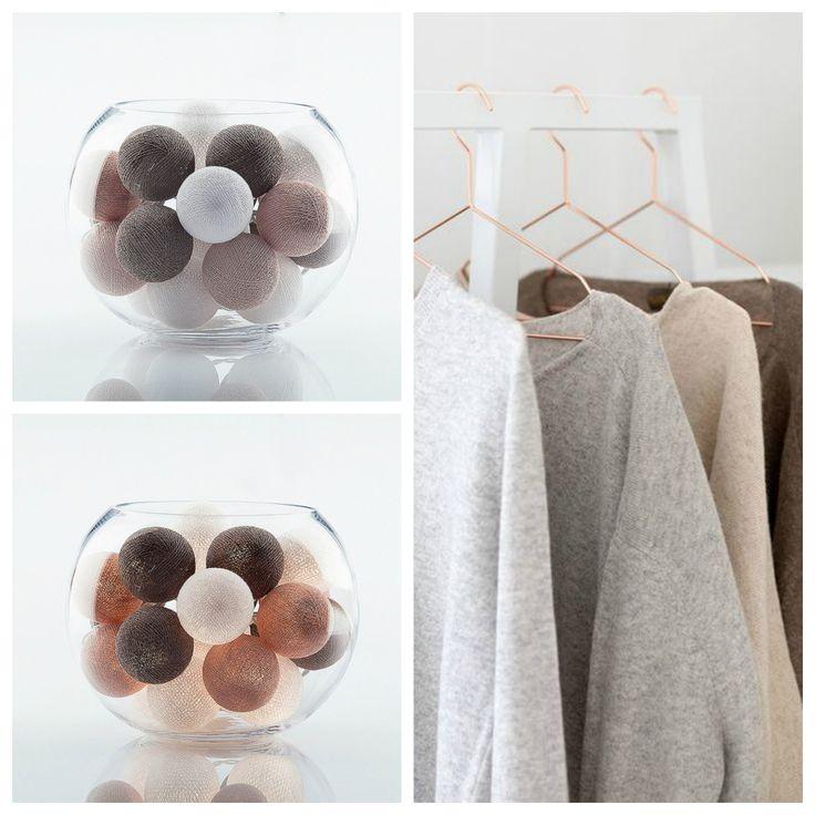 Cottonball lights garland «Basics» /  Гирлянда тайские фонарики «Basics» 20 шт. Длина 3 м, диаметр шарика 6 см. Цена 390 грн.