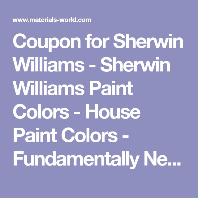 Coupon for Sherwin Williams - Sherwin Williams Paint Colors - House Paint Colors - Fundamentally Neutral Color Paints - Paint Chart, Swatch, Color Charts