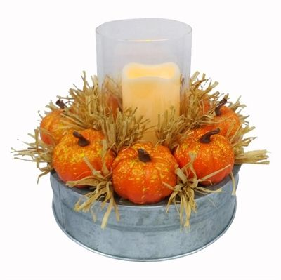 HARVEST 9.25-in Fall Harvest LED Tabletop Decoration