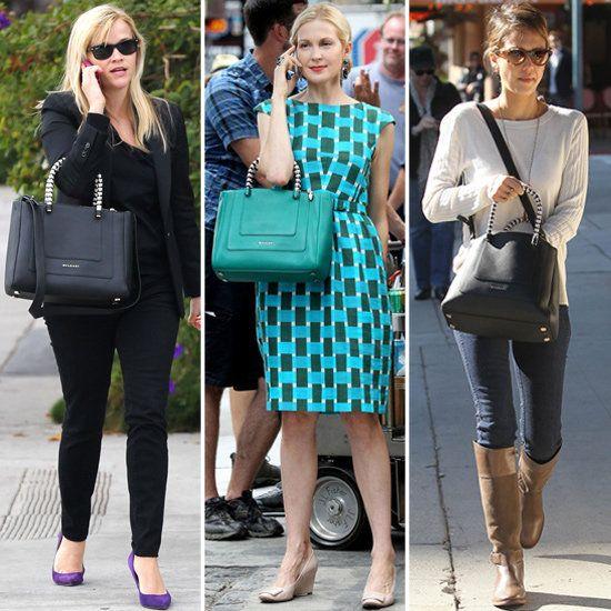 Celebrities Carrying Bulgari Totes   POPSUGAR Fashion