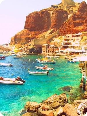 ammoudi bay, santorini, greece.