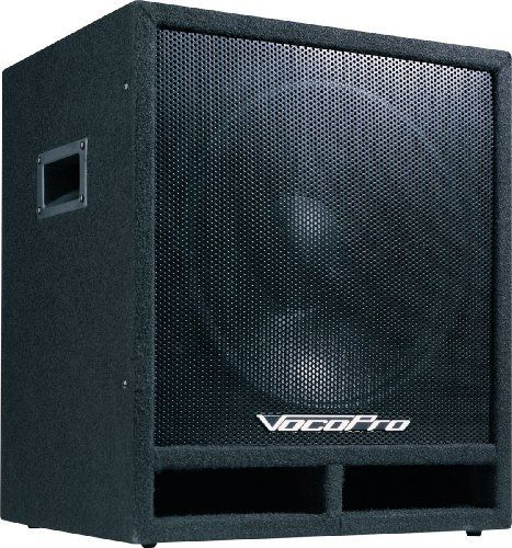 VocoPro  SUB-1500 200W 15-inch Powered Subwoofer by VocoPro. $398.27. Powered Subwoofers. Save 26% Off!