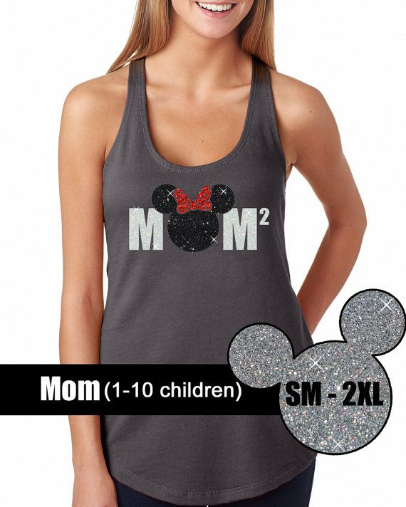 GLITTER Disney Mom 1-10 Tank // Disneyland by BellaDesignsStl