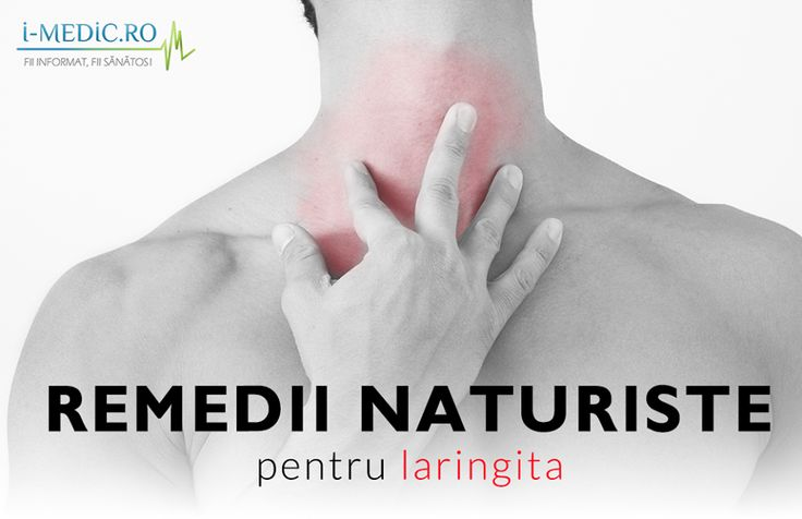 Laringita se manifesta prin inflamarea laringelui, ca urmare a unei infectii, iritatii sau suprasoliticarea laringelui. Laringita se manifesta prin ingrosarea sau chiar pierderea vocii -  http://www.i-medic.ro/remedii/remedii-naturiste-pentru-laringita
