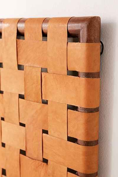 Alda Woven Leather Headboard