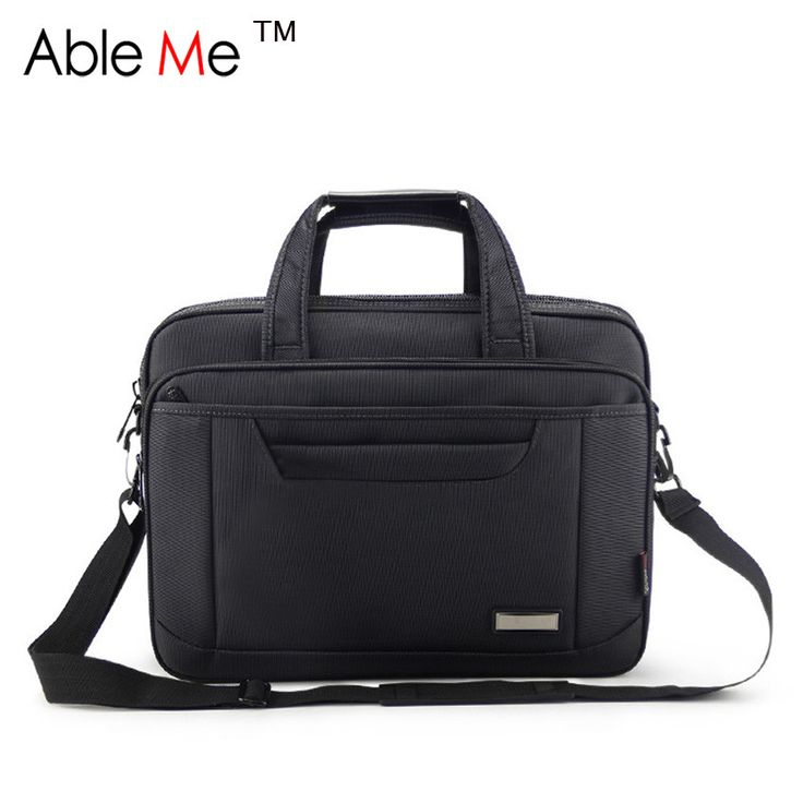 Classic Black Oxford Cloth Business Men Briefcase Large Capacity Portable Document and Laptop Handbag for Men Tote Bags