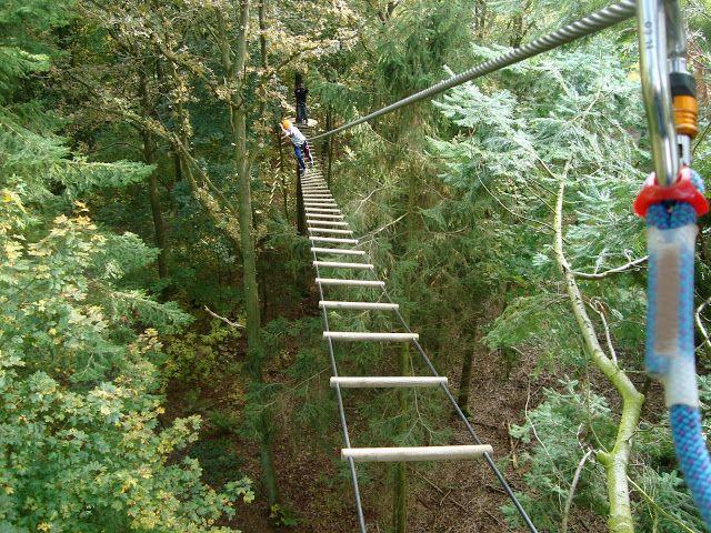 """Go High"" tree top climbing at Kragerup Gods, 4291 Ruds-Vedby. http://kragerup.dk/go-high/"