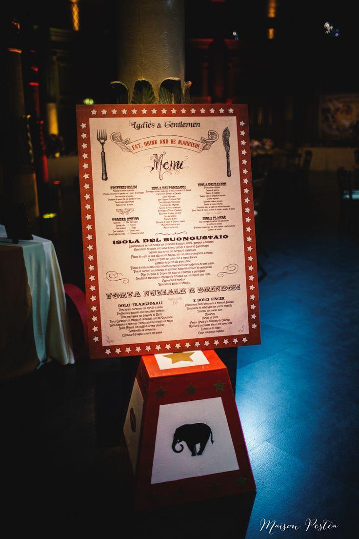 Menu The wedding Circus