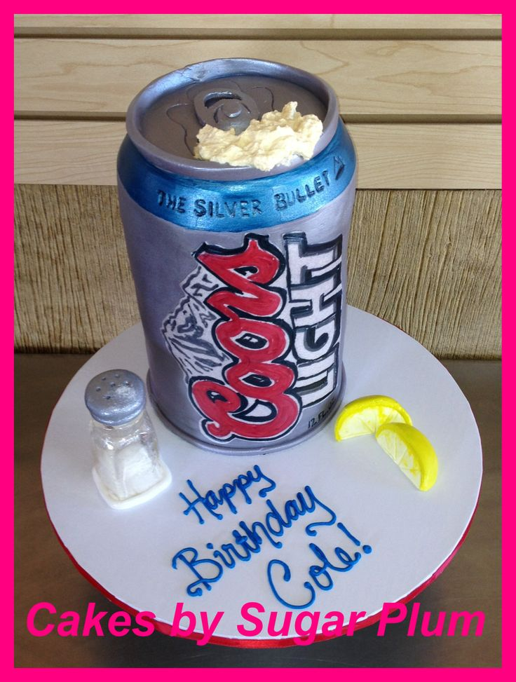 Coors Light Cake Designs