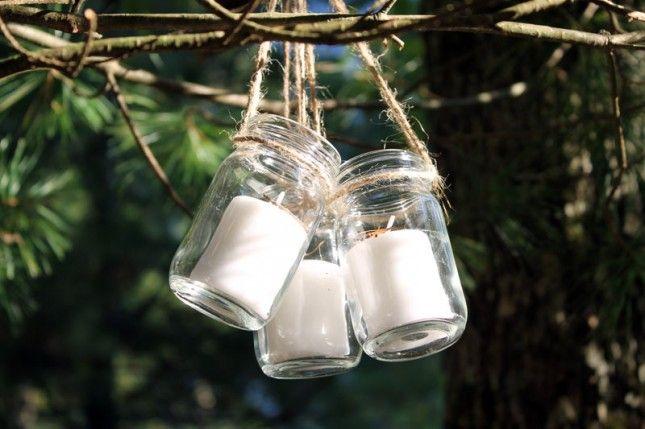 DIY: hanging jar lanterns