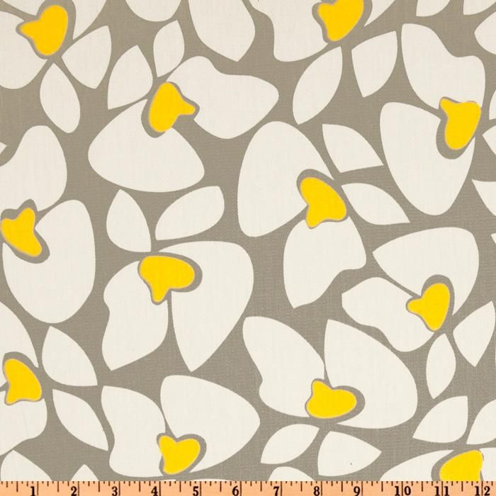 Premier Prints Helen Twill Storm/Yellow from @fabricdotcom  Screen printed on cotton twill; this versatile lightweight (approx. 5.4 ounce) fabric is perfect for window treatments (draperies, valances, curtains and swags), toss pillows, bed skirts, duvet covers, some upholstery and other home decor accents. Create handbags, apparel (skirts, lightweight jackets, pants) and aprons. *Use cold water and mild detergent (Woolite). Drying is NOT recommended - Air Dry Only - Do not Dry Clean. Colors…